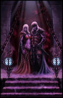 Drow Couple by JohnDotegowski
