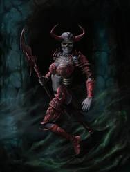 Overlord Martia'Shal, the Bone Mistress by JohnDotegowski