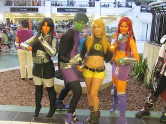 A-kon '12 - Teen Titans w Blackfire by TexConChaser