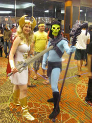 A-kon '12 - She-Ra and Skeletor by TexConChaser