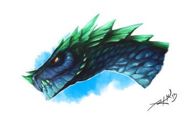 Blue Dragon by Rathaelos