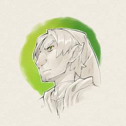 Elf Sketch by Rathaelos