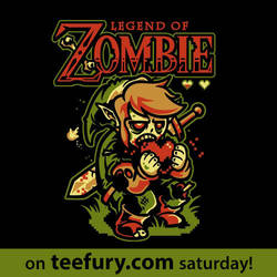 Legend of Zombie on teefury by Winter-artwork