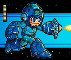 Megaman art piece by Winter-artwork
