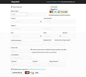 PSD Freebie - Register and Payment Form by DsquareDMedia