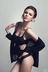 Babe in black #1 by DmitryElizarov
