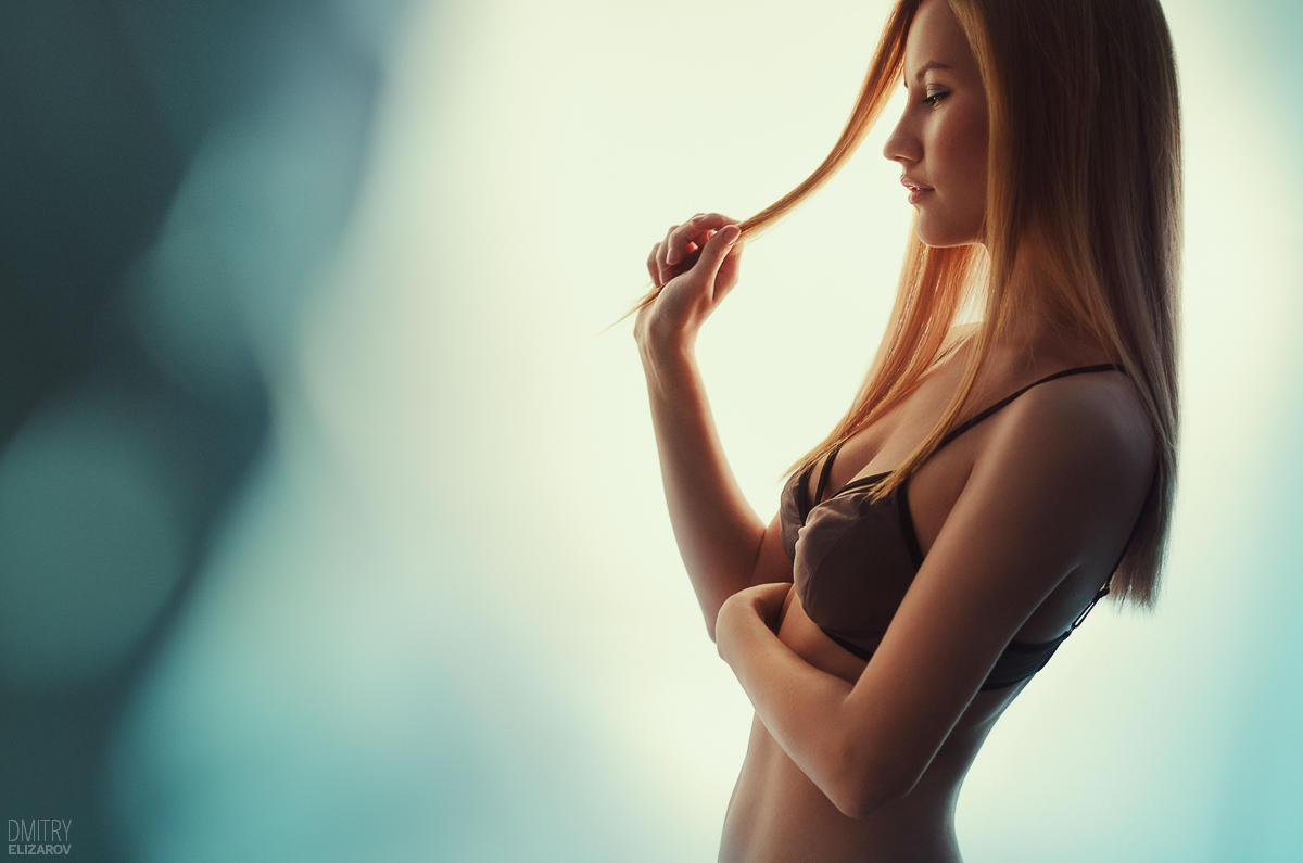 Miss Orange, Mr. Teal by DmitryElizarov