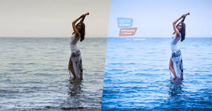You are the ocean (before and after) by DmitryElizarov