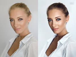 Anna Ioannova (before and after) by DmitryElizarov