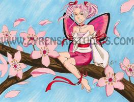 Cherry Blossom Fairy by bukittyan