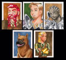 DA:O Sketchcard set 2: guys by bukittyan