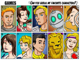 Favorite Game characters by bukittyan