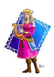 Skyward Sword- Zelda by bukittyan