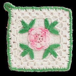 Floral Crochet Potholder by bubupoodle