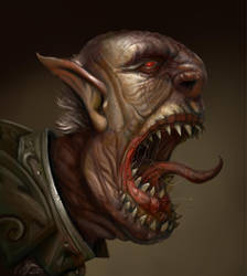 Grumpy old orc by benwinfield