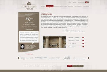 Paris law school web interface by Seyart