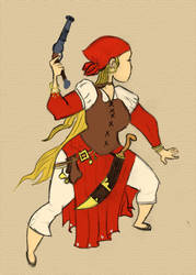 Pirate with color by Newtart