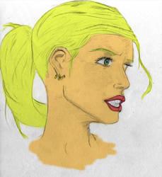 Buffy Sketch by Newtart