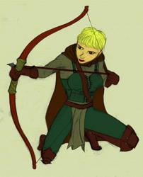 Female Archer by Newtart