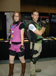 Claire and Chris Redfield by Newtart