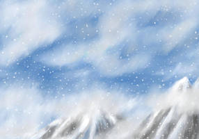 Snowy Mountains by FaerieBert
