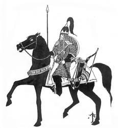 Rohan Rider by galadhorn