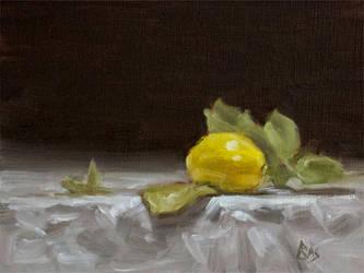 Lemon with Leaves by Brandon-Schaefer