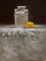 Ceramic Jug and Clementine by Brandon-Schaefer