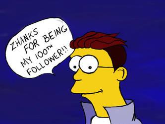 100th Follower by sparkchan