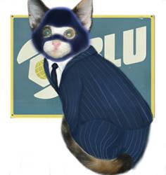 BLU Spy Calico Cat by sparkchan