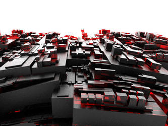 Abstract glass Cityscape by crazyfcuker