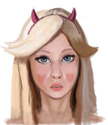 (Somewhat) Realistic Star Butterfly by ekoi1995