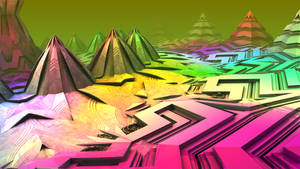 Technicolor Wonderland - Pong 02 by krompulos