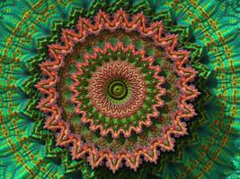 Triple Threat Surf Mandala by krompulos