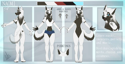 Naomi Reference Sheet by WolfRoxy