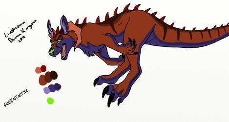 Demon Kangaroo-LS doodle by sweentastic