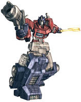 Optimus Prime in colour by Blitz-Wing