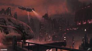Hunters - Metropolis landing pad by AlfDsz