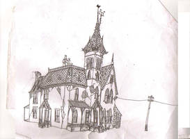 Haunted Mansion by Hebbybobdige