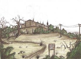 The Asylum Beyond the Town by Hebbybobdige