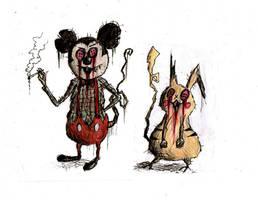A Traumatised Childhood#2: Michael and Pikachu by Hebbybobdige