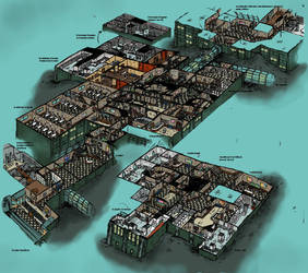 Rapture Medical Pavilion Cutaway Diagram by Hebbybobdige