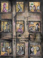 The Tenement Block by Hebbybobdige