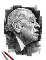 Jorge Luis Borges by NestorCanavarro