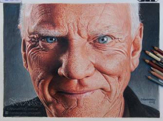 Malcolm McDowell by NestorCanavarro