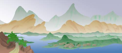 river background by Saiyuri