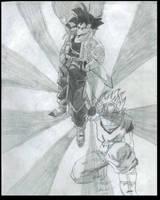 Goku Lionheart greyscale by LionheartX042