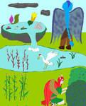 Float stone garden by Greenhorngal