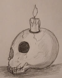Skull candle by Greenhorngal