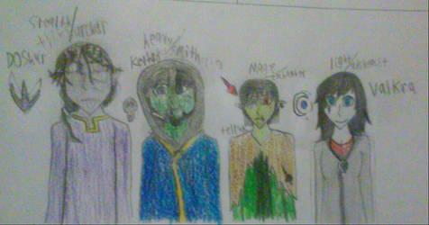 skyrim:four dragonborns!? by DuelBladedAdventurer